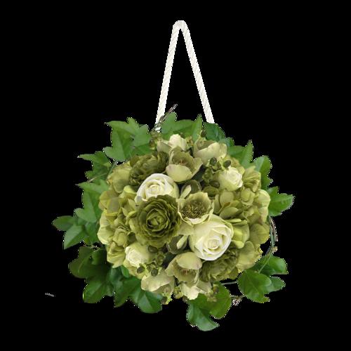 Sweet Flower d'Angie Design sur gaze de soie fini