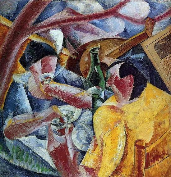 Umberto Boccioni, Sous la tonnelle à Naples, 1914