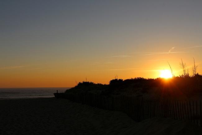 Couché de soleil en Gironde