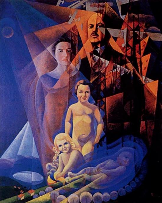 Gerardo Dottori, La famille Marinetti, 1932-33