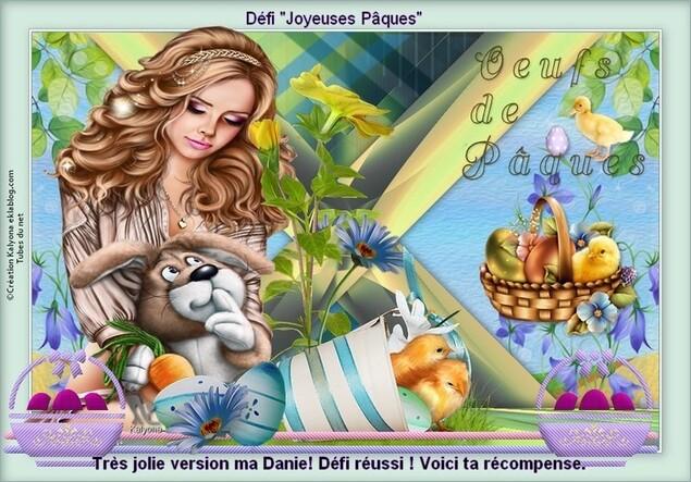 Récompense  défi Pâques de Kalyona , que je remercie..