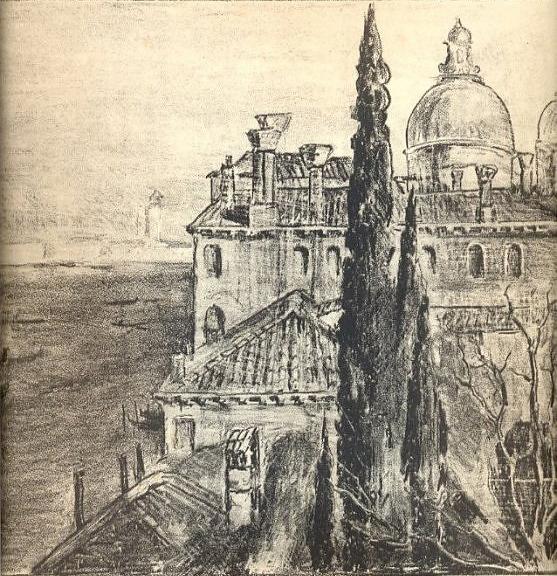 Palais vénitien - fusain