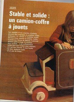 Camion-COFFRE A JOUETS