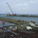 Travaux sur le port (vers 2011) - Photo : Domino