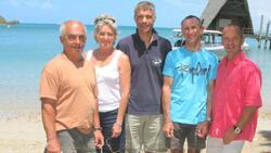 De gauche à droite : Olivier Jullien, Annabella De Candia, Martin Ravanat, Jean-Luc Beaufaron, Thierry Baboulenne