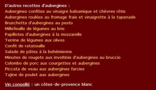 LE  LUNDI 18AOUT     RECETTE AUBERGINES FARCIES