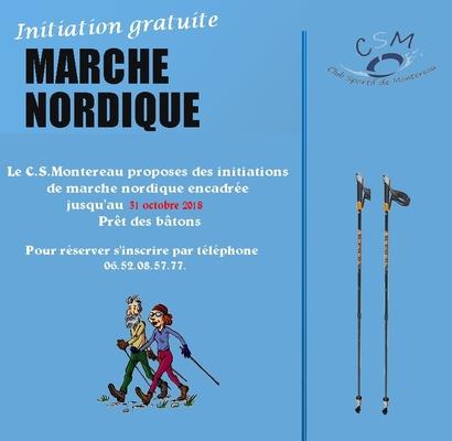 - Initiation Marche Nordique.