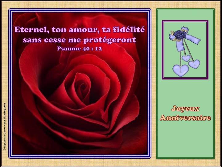 Joyeux Anniversaire - Psaumes 40 : 12