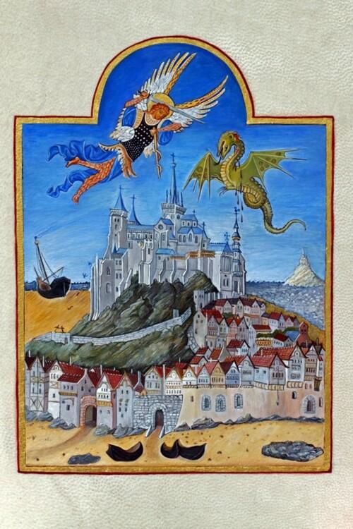 Enluminure: Le Mont Saint Michel