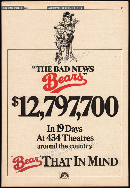 THE BAD NEW BEARS BOX OFFICE 1976