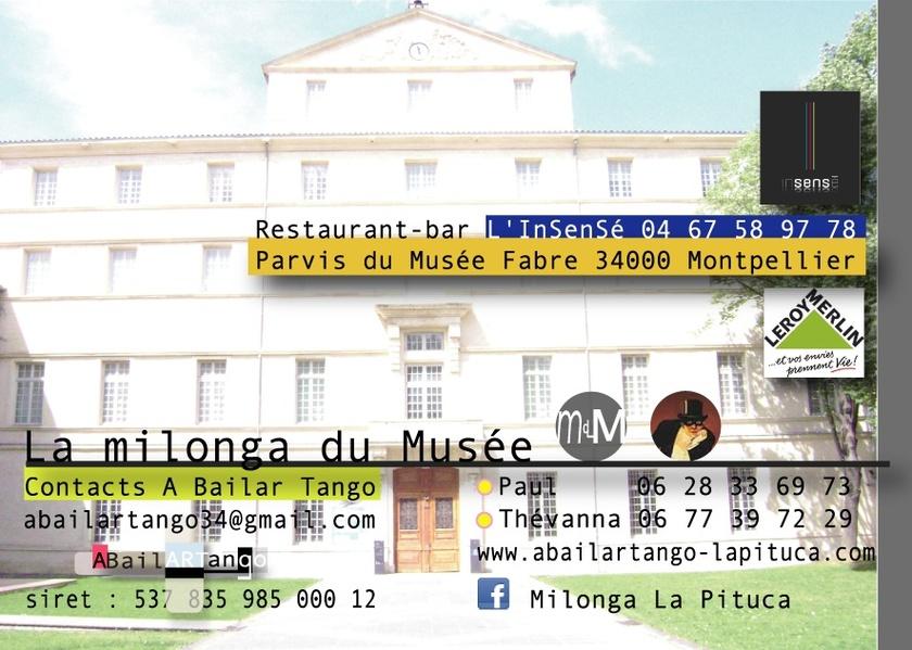 DJ Camille / El Trece Tango Club de Marseille mercredi 18 juillet à la Milonga du Musée
