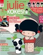 Julie Kokeshi de mars 2012 et son cahier spécial brico créatif
