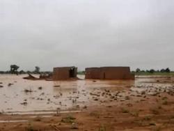 Des maison inondées à Tajaé;Tahoua;Niger