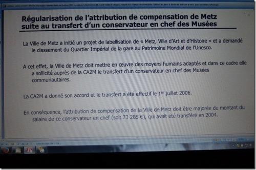 Unesco : la France retient Metz