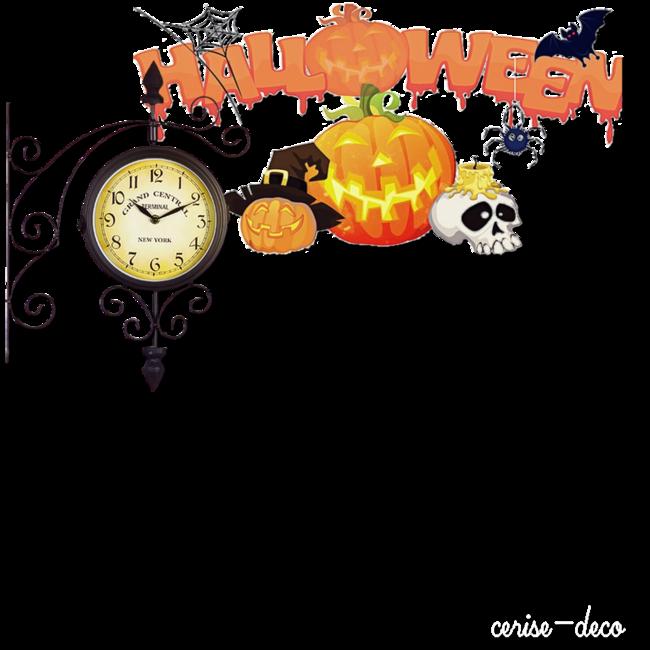 cluster gratuit halloween pour vos créations