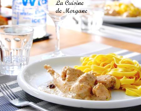 Fricassé de poulet à la pistache (et à la figue)