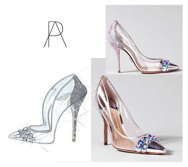 chaussures de mariage transparentes à talon aiguilles