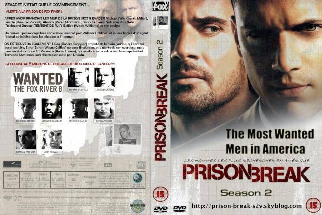 Prison-Break Saison 2 Jaquette-Coffret Dvd Sortie 2007/2008