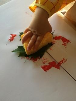 Peinture à la feuille