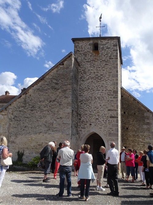 Visite de l'église de Duesme avec Françoise Vignier