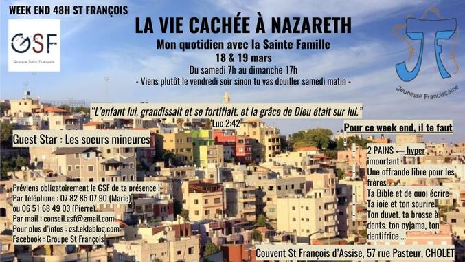 "17 - 19 mars : ""WE saint François"""