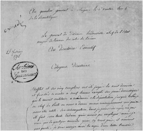 Stofflet le 25 février 1796....