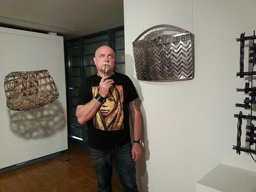 """SCULPTURE INOX """" LE PANIER DE CRABE """" POUR EXPO AU CENTRE DJIBAOU KONÉVA 2014"""