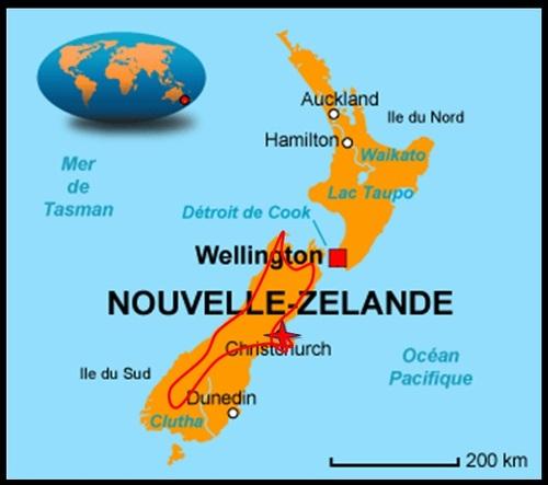 Itinéraire en Nouvelle Zélande