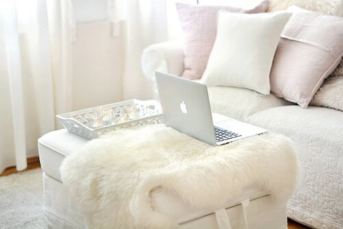 pink, room, white, apple, living room, room ideas, inspiration