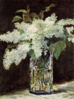 Lilas à la manière d'Edouard Manet