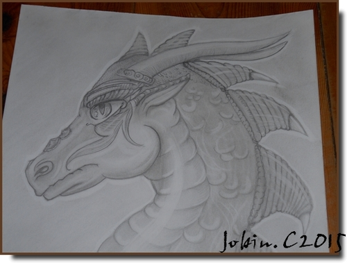 Dragon dessin feuille A5