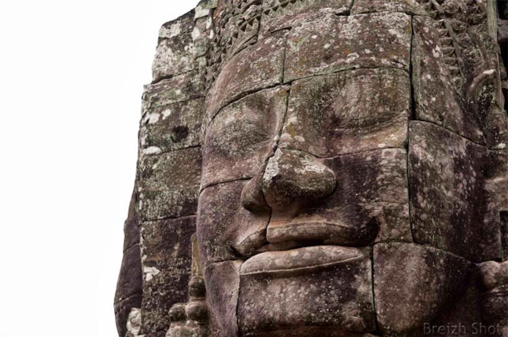 Angkor Thom, le Bayon - un beau regard