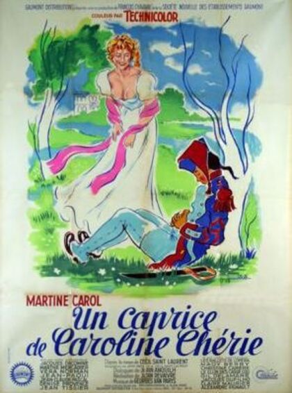 UN CAPRICE DE CAROLINE CHERIE BOX OFFICE 1953