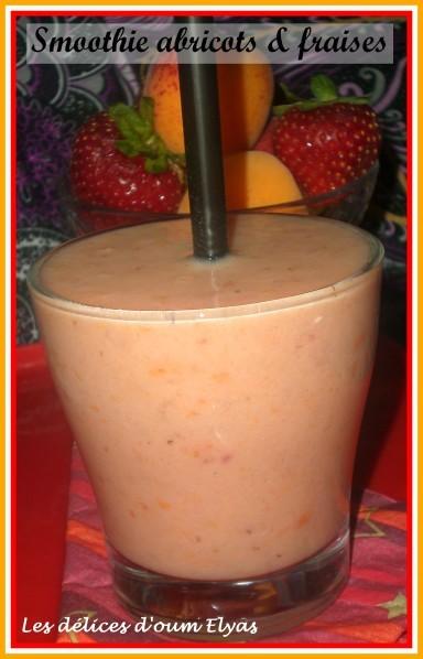 Smoothie abricots fraises