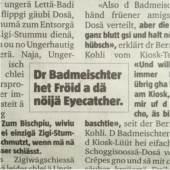Il existe beaucoup de dialectes en Suisse, et clairement, ce n'a pas vraiment été créée pour être écrite.