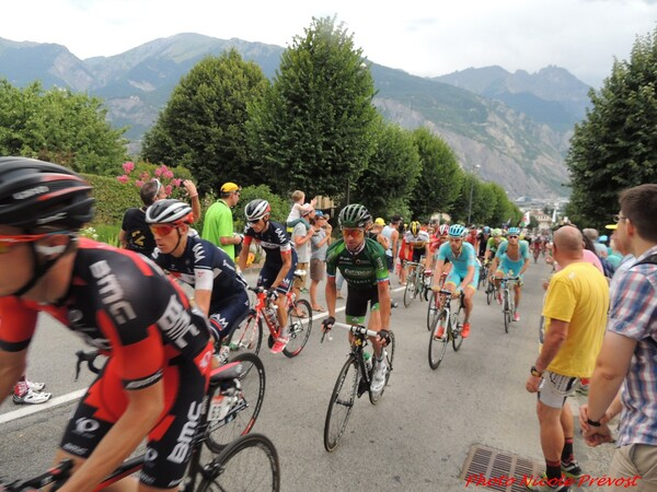 Quelques photos du tour de France à saint Jean de Maurienne par Nicole Prévost