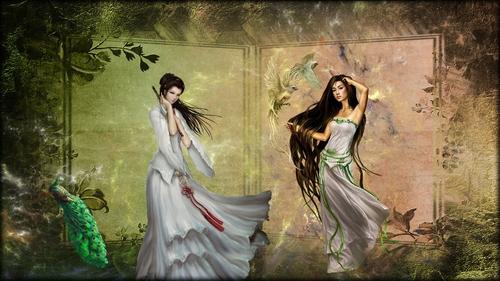 fond femmes asiatiques