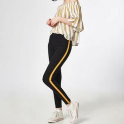 Legging à bandes jaunes