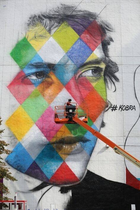 Peinture murale de Eduardo Kobra , artiste Méxicain en Août 2015