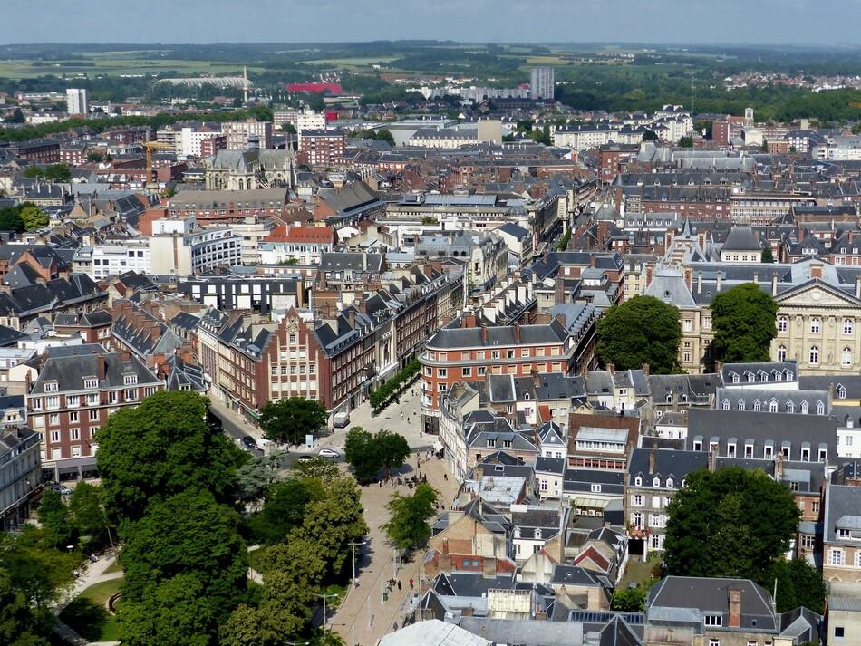 Amiens-centre vue de la tour Perret (suite)