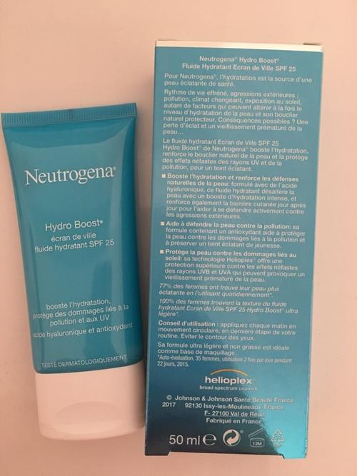 Gamme hydroboost de Neutrogena