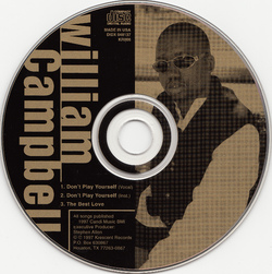 WILLIAM CAMPBELL - DON'T PLAYED YOURSELF (CDS 1997)