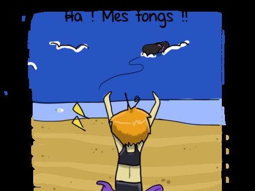 Plage, Pâtés, Tongs...