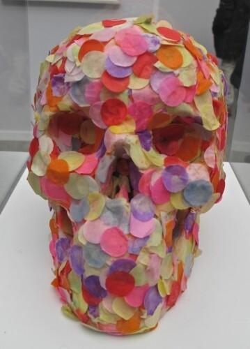 Art Paris Bernier crâne confetti