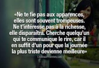 Proverbe Apparence
