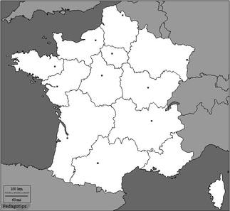 Géographie cycle 3 cartes des régions