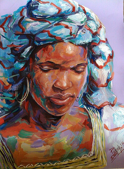 femme en reflection