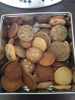 Cookies aux deux chocolats et spéculos