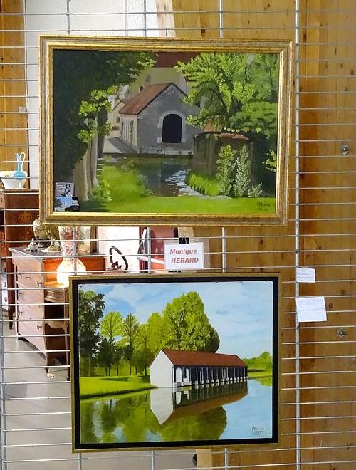 Quelques peintres de la Section-Peinture des Amis du Châtillonnais ont exposé au Salon des Antiquaires 2016 du Lions Club Châtillonnais