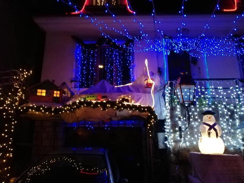 maisons illuminées de ma ville